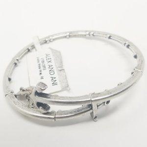 Alex and Ani Anchor Metal Wrap Bracelet Silver